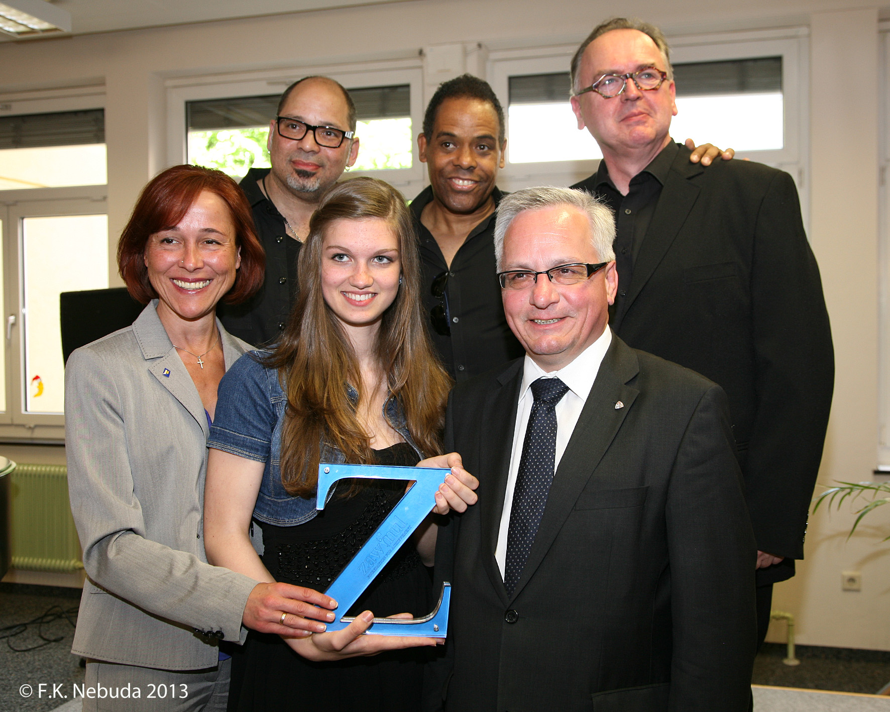 Z award winner with Tony Zawinul, Erich Zawinul, Andi and Mayor