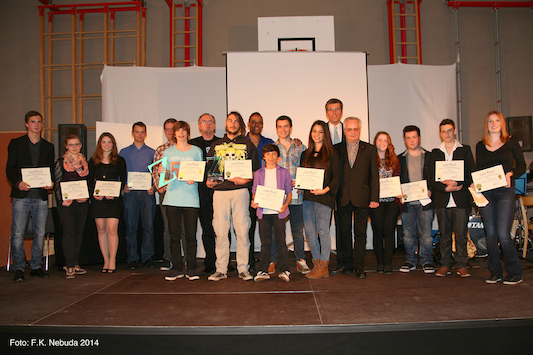 Tony Zawinul, Andreas Tieber, Martin Schuster, Ferdinand Köck, and the contestants(2)